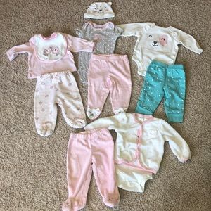 Baby girl lot of 4 sets of outfits